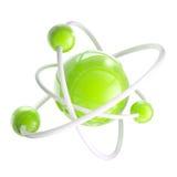 атомной изолированная эмблемой структура науки Стоковая Фотография