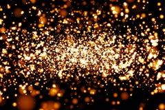 атомные частицы 3d представляют Стоковая Фотография