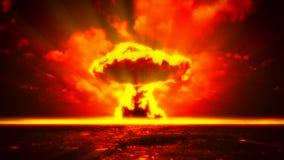 Атомный взрыв иллюстрация штока