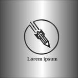 Атомный логотип Стоковое фото RF