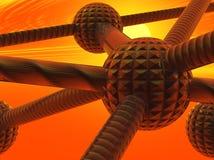 атомы закрывают соединения вверх Стоковые Изображения RF