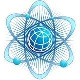 атом гловальный иллюстрация вектора