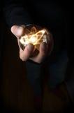 Атом хрустального шара Стоковые Изображения
