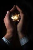 Атом хрустального шара Стоковая Фотография