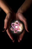 Атом хрустального шара Стоковое Изображение