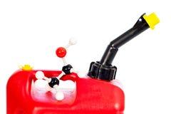 Атом этанола химии на gan газа Стоковые Фотографии RF