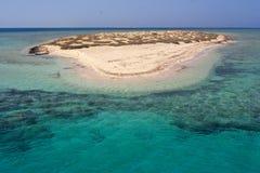 Атолл рая островов Qulaan в Красном Море Египта стоковое фото rf