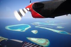 Атоллы, Мальдивы Стоковое Изображение