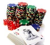 атрибуты играя в азартные игры стоковая фотография rf