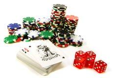 атрибуты играя в азартные игры Стоковое фото RF