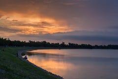 датские озера острова landscape вода wadden моря природы малая приливная одичалая Стоковое фото RF