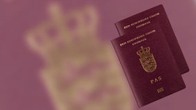 датский пасспорт Стоковые Фото