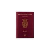 датский пасспорт Стоковые Изображения