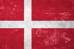 датский флаг Стоковые Фото