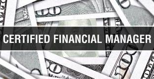 Аттестованная финансовая концепция крупного плана менеджера Американские доллары денег наличных денег, перевода 3D Аттестованный  стоковые изображения