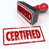 Аттестованный знак одобрения проверки штемпеля официальный Стоковая Фотография RF