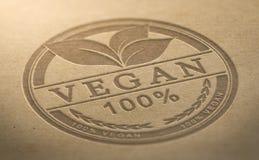 Аттестованный продукт Vegan Стоковое Изображение RF