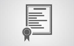 Аттестуйте значок, вектор значка сертификата, значок eps сертификата Иллюстрация вектора