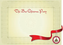 аттестуйте рождественскую вечеринку Иллюстрация вектора