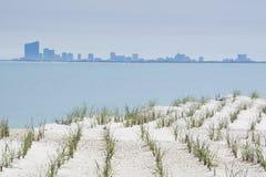 Атлантик-Сити в расстоянии стоковое фото