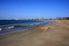 Атлантическая береговая линия, Ла Paloma, Уругвай стоковое изображение rf