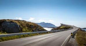 атлантическая дорога Норвегии Стоковые Изображения