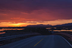 атлантическая дорога Стоковые Фотографии RF