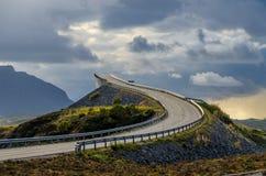 атлантическая дорога стоковое изображение