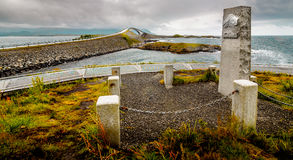 Атлантическая дорога - Molde Норвегия стоковое изображение
