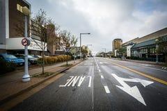 Атлантический бульвар, в Virginia Beach, Вирджиния стоковые изображения rf