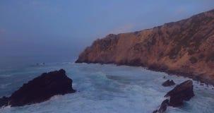 атлантический красивейший океан Канарских островов над заходом солнца видеоматериал
