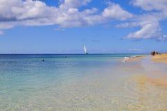 Атлантический океан и красивый пляж Фуэртевентуры Стоковые Фотографии RF