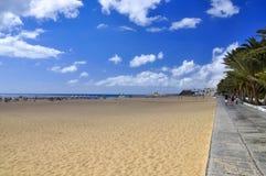 Атлантический океан и красивый пляж Фуэртевентуры Стоковое фото RF