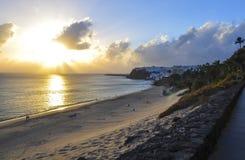 Атлантический океан и красивый пляж Фуэртевентуры Стоковая Фотография RF