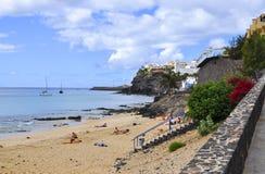 Атлантический океан и красивый пляж Фуэртевентуры Стоковое Изображение RF