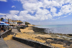 Атлантический океан и красивый пляж Фуэртевентуры Morro j Стоковая Фотография