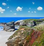 Атлантический песочный пляж Испания Illas Стоковые Фотографии RF