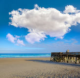 Атлантический пляж в Джексонвилле Флориды США Стоковое Изображение
