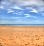 Атлантический пляж около Кадиса, Испании Стоковые Фотографии RF
