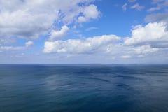 атлантическое голубое пасмурное небо океана Стоковые Фото