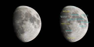 Атлас луны Стоковая Фотография RF