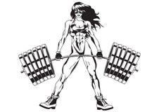 атлетическая девушка иллюстрация вектора
