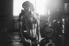 атлетическая женщина Стоковое Изображение RF