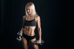 Атлетическая молодая женщина Стоковая Фотография RF
