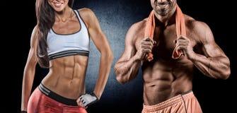 Атлетические человек и женщина Стоковые Фотографии RF