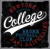 атлетический dept Нью-Йорк; Печать и университетская спортивная команда вектора спорта университетской спортивной команды иллюстрация штока