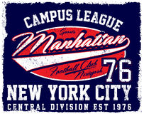 атлетический dept Нью-Йорк; Печать и университетская спортивная команда вектора спорта университетской спортивной команды иллюстрация вектора