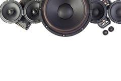 Аудио автомобиля с дикторами Стоковые Изображения RF