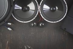 Аудио автомобиля с дикторами Стоковые Изображения