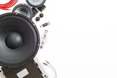 Аудио автомобиля с дикторами Стоковая Фотография RF